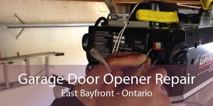 Garage Door Opener Repair East Bayfront - Ontario